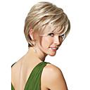 自然な高品質のキャップレスショート波状モノトップ人間の髪の毛は、選べる9色をかつら