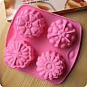 obliku bakeware silikon cvijeće pečenje kalupi za tortu čokolade mliječi
