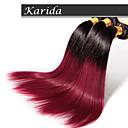 3 ks / lot tmavě červená ombre vlasy velkoobchod brazilské vlasy, nezpracované 100% a měkký rovný brazilský ombre vlasy
