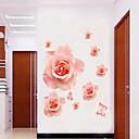 zid naljepnice zid naljepnice stil romantični ružičaste ruže cvijet PVC zidne naljepnice