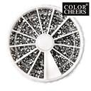 3600PCS 2mm Silver Kružni Nail Art akril Rhinestone