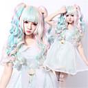 100 cm Nový styl cosplay mix barev levné paruky vlasy syntetické vlasy, paruky