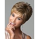 chic stylu syntetické paruky krátké rovné vlasy světle hnědé paruky s ofinou plnými přírodními paruky pro ženy
