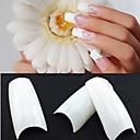 500 profesionalnih bijele korejski standardi pola i lažni akrilnih nail art savjeta (50pcsx10 veličine mješoviti)