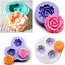 sada 4 Pečení silikonová fondán forma dort výzdoba forma (náhodné barvy)