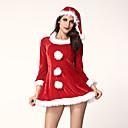 Cosplay Kostýmy / Kostým na Večírek Vánoční santa obleky Festival/Svátek Halloweenské kostýmy Červená Jednobarevné Šaty / Klobouky