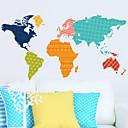 samolepky na zeď na stěnu, mapa světa PVC samolepky na zeď