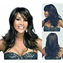 女性前髪でセクシーな自然なかつらのためのファッショナブルな合成のアフリカ系アメリカ人のかつらは、長いウェーブのかかった髪のかつら