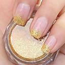 zlaté třpytky prášek nail art ozdoby