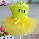 kočičky / pejsky Šaty Žlutá / Modrá / Černá / Bílá / Růžová Oblečení pro psy Léto Mašle cosplay