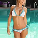 Ženski Bikini - Grudnjak na vezanje - Bez žice/Nepodstavljen grudnjak - Color block/S cvjetnim printom/Jednobojni/Geometrijski oblici -