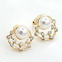 Naušnica Sitne naušnice Jewelry 2pcs Imitacija bisera / Umjetno drago kamenje / Pozlaćeni Žene Zlatna / Bijela