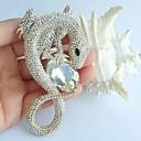 3,94 palců gold-tone jasné drahokamu křišťálově ještěrka brož přívěsek umělecké dekorace