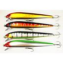 "4pcs kom Minnow / Csali Minnow Crn / Zelen / žuta / Zlato 27.2g g/1 Unca mm/7"" palac,Tvrde plastikeMorski ribolov / Slatkovodno ribarstvo"