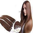 グレード5aは1個/ロット22inch / 55センチメートルmulticolorsストレートマイクロリング毛延長人間の髪の毛は、100S /パック1グラム/秒を編みます