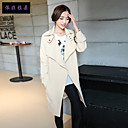 Women's Long Sleeve Polyester Trench Coat , Casual/Party/Work