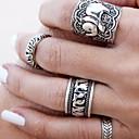 指輪 ファッション パーティー ジュエリー 合金 女性 関節リング 1セット,ワンサイズ シルバー