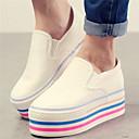 Ženske cipele - Mokasine - Ležerne prilike - Umjetna koža - Platforma - Zaobljene cipele - Bijela