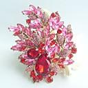 nádherný 4,33 palce zlato-tón červená růžový krystal drahokamu květina brož art deco brož kytice