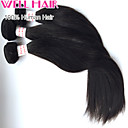 "3Pcs/ Lot 8""-30"" Peruvian Straight Virgin Hair Wefts Natural Black 1B# Human Hair Weave Bundles Tangle Free"