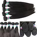 """3bundles / lot 300g panenská brazilská vlasy útek 1b černé rovné vlasy tkát 8 """"-30"""" zdarma zamotat"""
