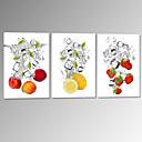 水中での視覚star®fruitがハングアップする準備ができてキャンバス印刷レモンイチゴ壁絵を伸ばし