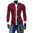 Ležérní Košilový límec - Dlouhé rukávy - MEN - Casual Shirts ( Bavlna / Směs bavlny )
