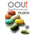Pill Case - Plastique - Jaune/Vert/Rouge/Bleu/Orange