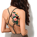 5ks / set blesk vodotěsné barva pivoňka květ dočasné tetování nálepka