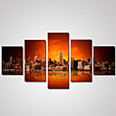 Krajina / Architektura / Fotografie Na plátně Pět panelů Připraveno k Pověste , Horizontální
