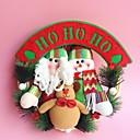 """30cm / 12 """"Božić ratana Hoop božićni ukras zavjese Božićni vijenac Djed Božićnjak snjegović sob"""