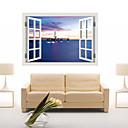 建築 / カートゥン / ロマンティック / ファッション / 風景画 / 形 / ファンタジー / 3D ウォールステッカー 3D ウォールステッカー , PVC 90cm x 60cm( 35in x 24in )