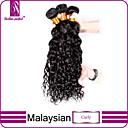 Ljudske kose plete Malezijska kosa Kovrčav 3 komada kosa isprepliće