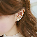 イヤリング 耳の袖口 ジュエリー 1個 結婚式 / パーティー / 日常 / カジュアル 合金 / 人造真珠 / ラインストーン 女性 ゴールデン / シルバー