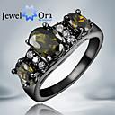 Prstenje,Klasično prstenje,Jewelry Moderan Party Kubični Zirconia / Pozlaćeni Crna / Zelena 1pc,Univerzalna veličina Žene