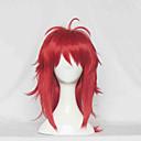 Cosplay Paruky Cosplay Cosplay Czerwony Střední Anime Cosplay Paruky 60 CM Horkuvzdorné vlákno Dámský