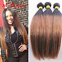 """3ks / lot 8 """"-30"""" brazilský panna barva vlasů 1b30 rovné ombre lidské vlasy spřádá"""