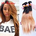 """3ks / lot 8 """"-30"""" brazilský panna barva vlasů 1b27 rovné ombre lidské vlasy spřádá"""