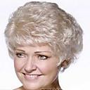 prekrasne europske prirodne boje starica žene vrhunski kratka kosa sintetičkih