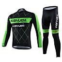 KEIYUEM® Biciklistička majica s tajicama Uniseks Dugi rukav BiciklVodootpornost / Prozračnost / Quick dry / Vjetronepropusnost /