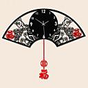 Novinka / kupole Módní a moderní Nástěnné hodiny , Květiny / Zvířata / Malebný / Svatba / Rodina Skleněný / KovS:62cm x 48cm( 24in x 19in