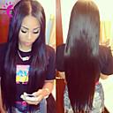 8黒人女性のための「-24」ペルーのバージン毛漂白ノット絹のようなストレートグルーレス完全なレース人間の髪の毛のかつら