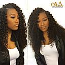 Hustoty 250% Glueless plné krajka lidské vlasy paruky pro černé ženy brazilské hluboké Kinky kudrnatý krajky vpředu lidské vlasy paruky