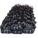 人間の髪編む ブラジリアンヘア ウェーブ 6ヶ月 3個 ヘア織り