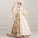 Jednodílné/Šaty Klasická a tradiční lolita Steampunk® / Viktoria Tarzı Cosplay Lolita šaty Béžová Tisk / Retro Dlouhé rukávy Long Length