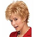 nejvyšší kvalita natrural paruka blond krátké kudrnaté syntetické vlasy, paruky pro každodenní život