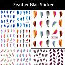 Punk - 3D Nail Naljepnice / Nakit za nokte - za Prst - 62mm*52mm - 12pcs kom. - PVC
