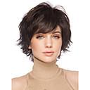 tamno smeđe puna vlasulja za žene jeftini perika kratka kovrčava kosa kratka sintetička lažna prirodnih ženske perika