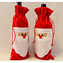Djed Mraz je vino torba otac božićni poklon torba božićnih ukrasa 1pcs