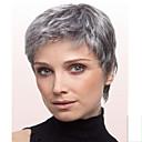 女性灰色Fashionalの女性ストレートショート人工毛かつら